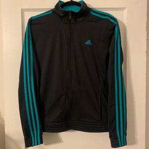 Adidas 3 Stripe Full Zip Track Jacket Sz M